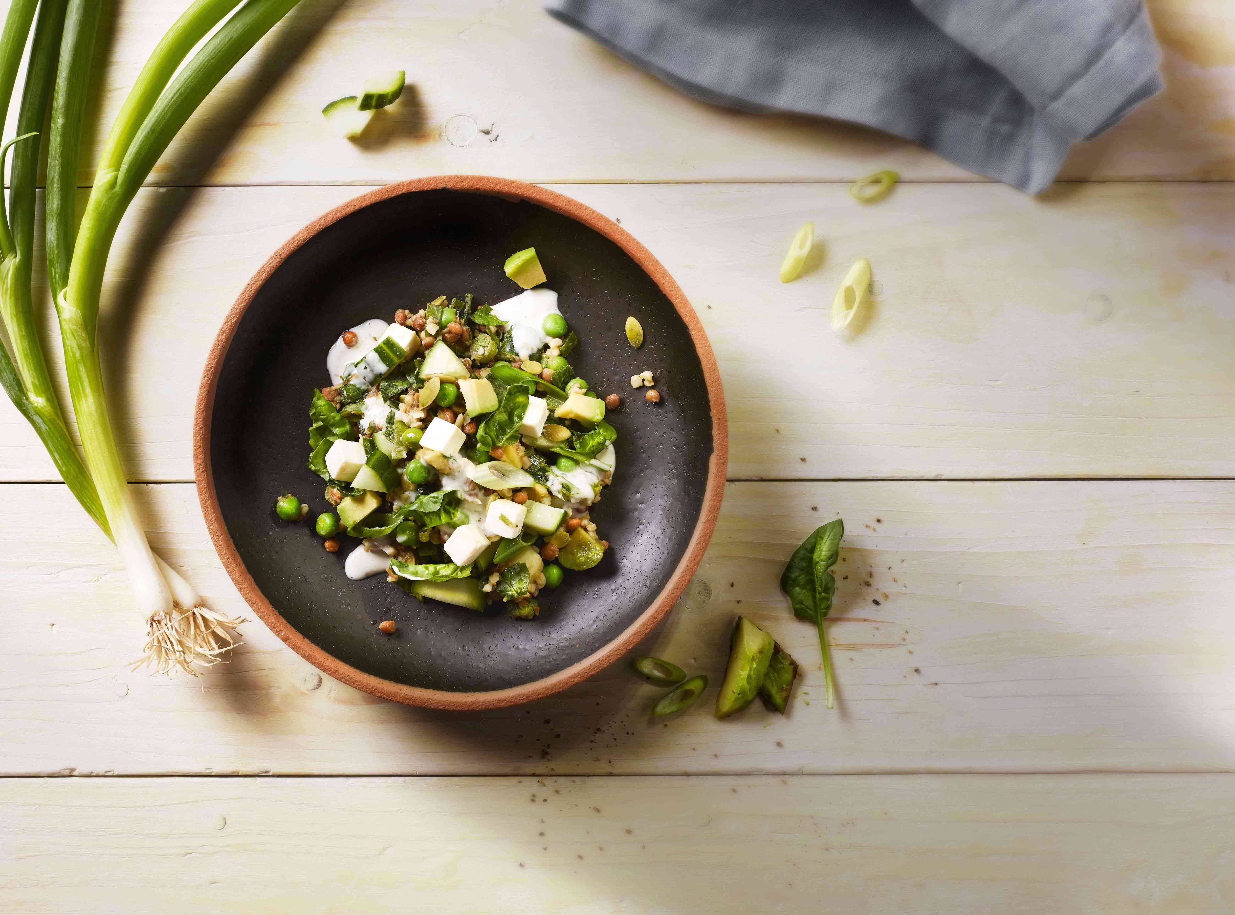 Plukon-Salade De Légumes-Lentilles-Avocat